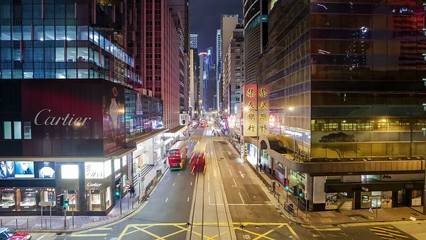 Medium Shot: Buses & Boulevards, Caverns Of Hong Kong