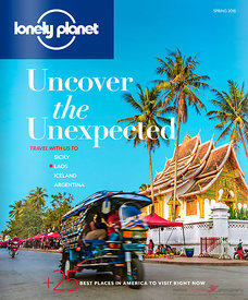 Lonely Planet traveller magazine US 2016 cover