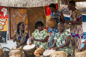 Traditional music band, Kokrobite, Ghana