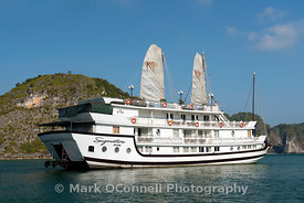 Cruise boat in Halong Bay Vietnam 2