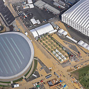 Aerial View Of The Velodrome And The Basketball Arena, London