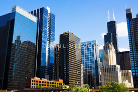 Chicago Skyline Downtown City Buildings