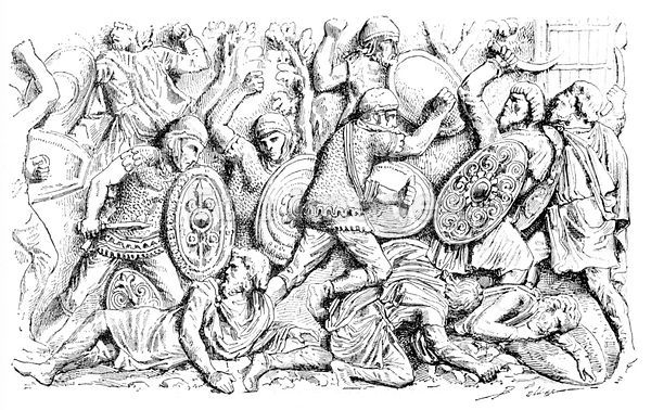 Dacians battle Romans during Dacian War