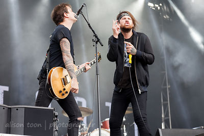 LOUISVILLE, KY, 1 October 2017: Beartooth, performing at Louder Than Life festival, Champion's Park, Louiseville, KY, USA
