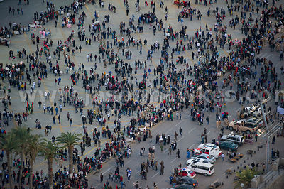 People on Martyrs' Square in Tripoli