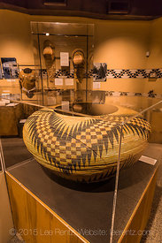 Lucy Telles Basket on Display in the Yosemite Museum