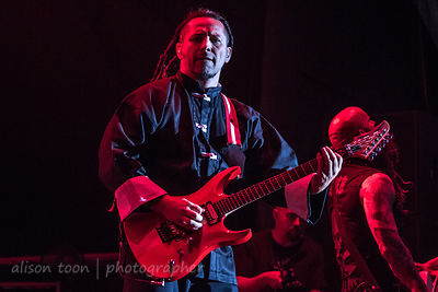 Zoltan Bathory, guitar, Five Finger Death Punch, Aftershock 2013