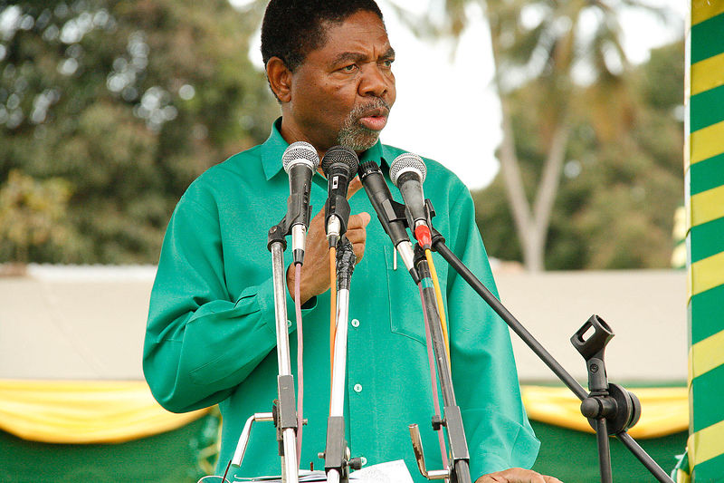 Dr. Ali Mohamed Shein speaks at an pre-election rally in the village of Bumbwini, Zanzibar, 29 September 2010. Dr Shein was e...