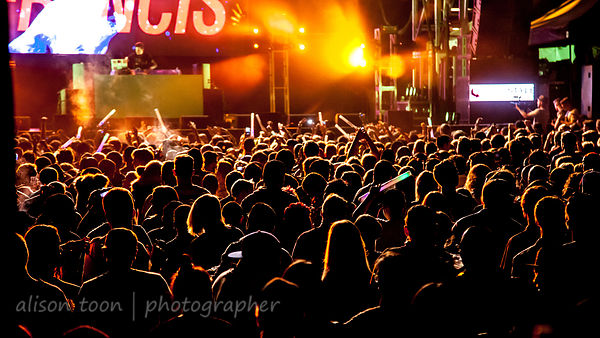 Crowd watching Dillon Francis, TDD Fest, Sacramento