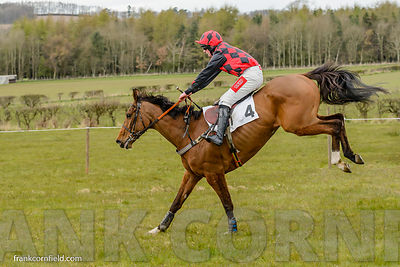 Elusive Classic over the last fence when winning The Rathbones Open Maiden Race at Balcormo Point-to-Point on 23 Apr 2016.