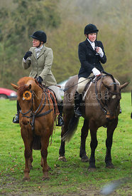 at the meet - The Belvoir Hunt at Croxton Park 23/2