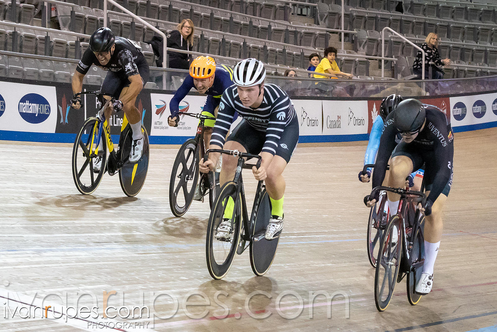 Elite/Master A Men Scratch Race. Ontario Track Championships, March 2, 2019