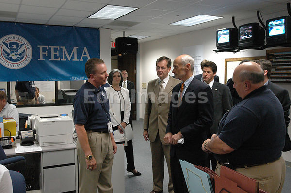 Michael Chertoff with FEMA officials after Katrina