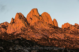Rabbit Ears Massif in Morning Light in New Mexico's Organ Mountains