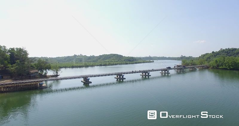 Drone Video Myanmar Chaungtha Bridge