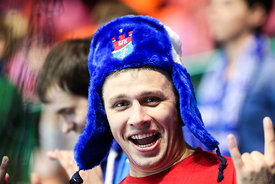 Fan during the Final Tournament - Final Four - SEHA - Gazprom league, Bronze Medal Match Meshkov Brest - PPD Zagreb, Belarus,...