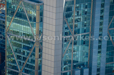 Aerial view of Broadgate Tower, London