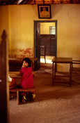 India - Kerala - A child in a classroom at the school for Dalits