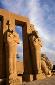 The Ramesseum, temple of Rameses II, Osiris pillars, temple of Rameses II, Ancient Thebes, Luxor, Egypt