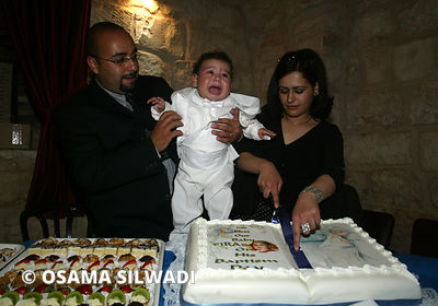 Palestinian Traditions & Rituals - Orthodox Baptism