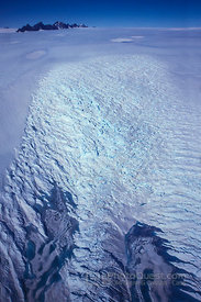Aerial View of Creavassed Glacier Edge