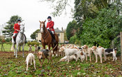 Chris Edwards, Andrew Osborne at the meet. The Cottesmore Hunt at Somerby