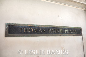 Thomas Paine Plaza Sign in Philadelphia