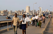 the Catembe jetty (Catembe side) for the ferry that crosses the 1km strech of water from Maputo, Maputo, Mozambique