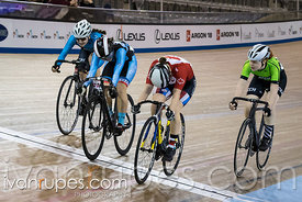 U17 Women Keirin 1-6 Final. Ontario Track Championships, March 4, 2018