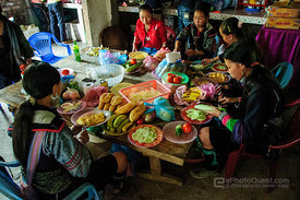 Hmong Guides Preparing Lunch for Tourists
