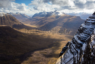 Looking out across the Torridon Mountains below Ben Alligin in the North West highlands of scotland.