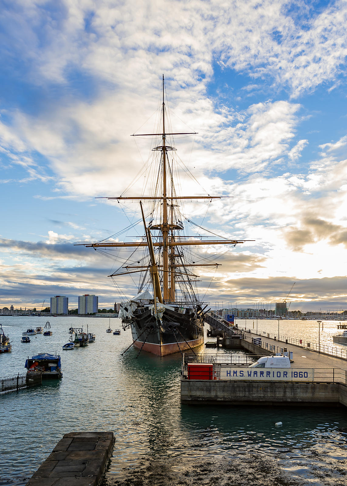HMS Warrior at Sunset,  Portsmouth Historic Dockyard