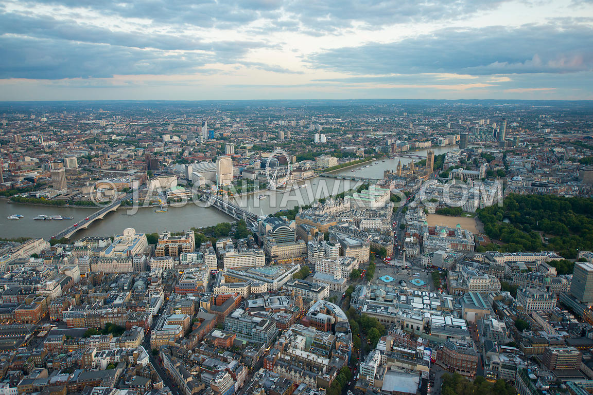 London. Aerial view of the West End
