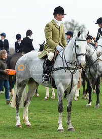 Hayden Hankey At the meet. The Belvoir Hunt at Highfield Farm 12/12