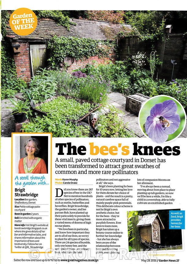 Brigit Strawbridge's garden, Garden News, May 2016