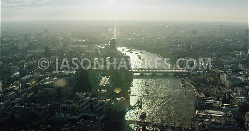London Aerial Footage of Tate Modern