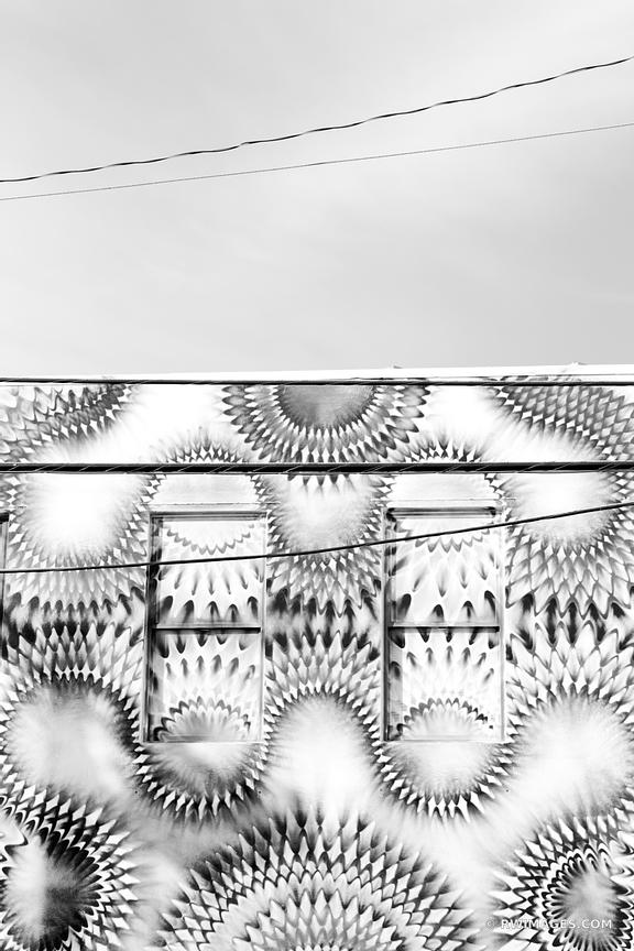 MURALS MIAMI FLORIDA ARCHITECTURE BLACK AND WHITE
