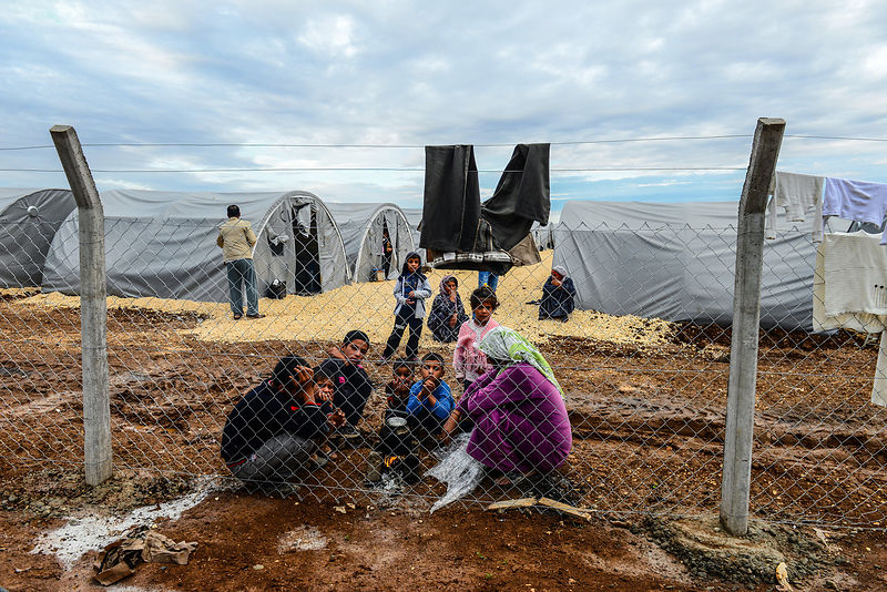 Syrian Kurdish refugees from Kobani