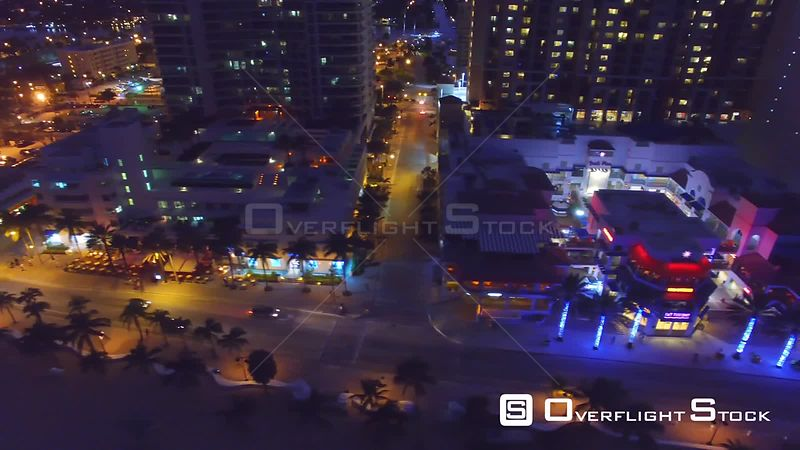 Night Drone Video of Fort Lauderdale Florida