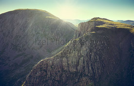 Sunrise over Pillar and Black Crag from Scoat Fell In the English Lake District, UK.