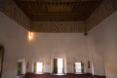 An interior in the Taourirt Kasbah