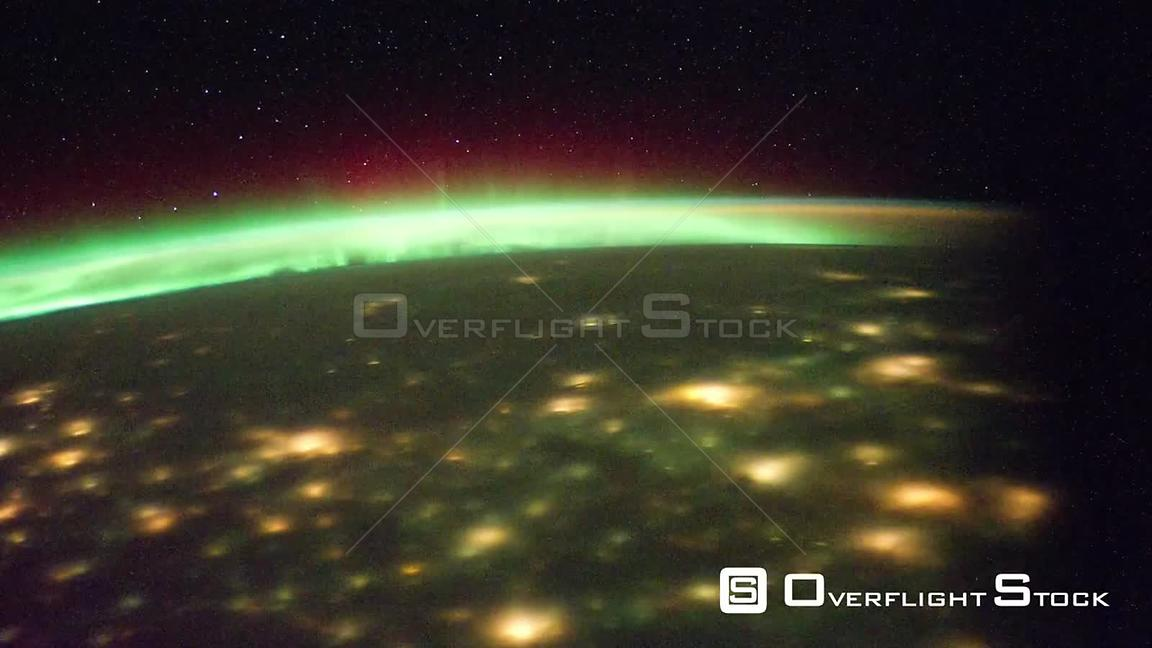 Time-Lapse from ISS over  Europe India Exp30 Aurora Borealis 21 Dec 2011