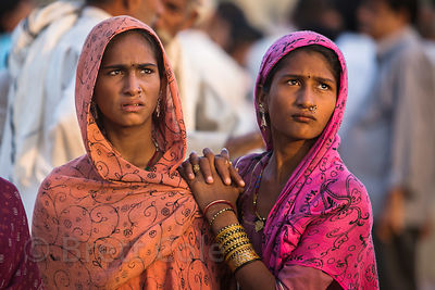 Young ladies in Pushkar, Rajasthan, India
