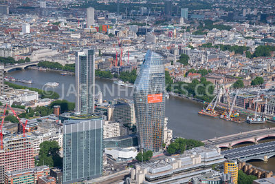London, aerial view of One Blackfriars
