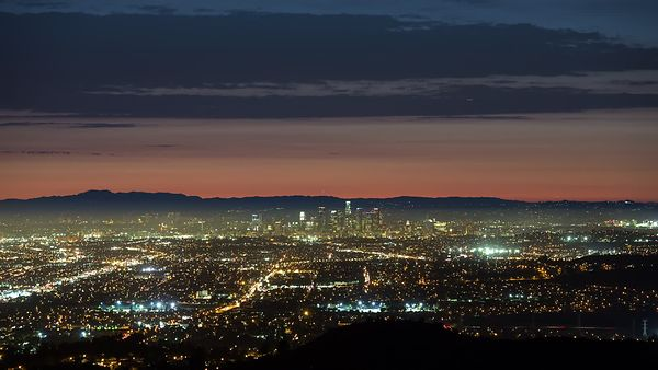Bird's Eye: A Dazzling Metropolis - Dusk Over L.A.