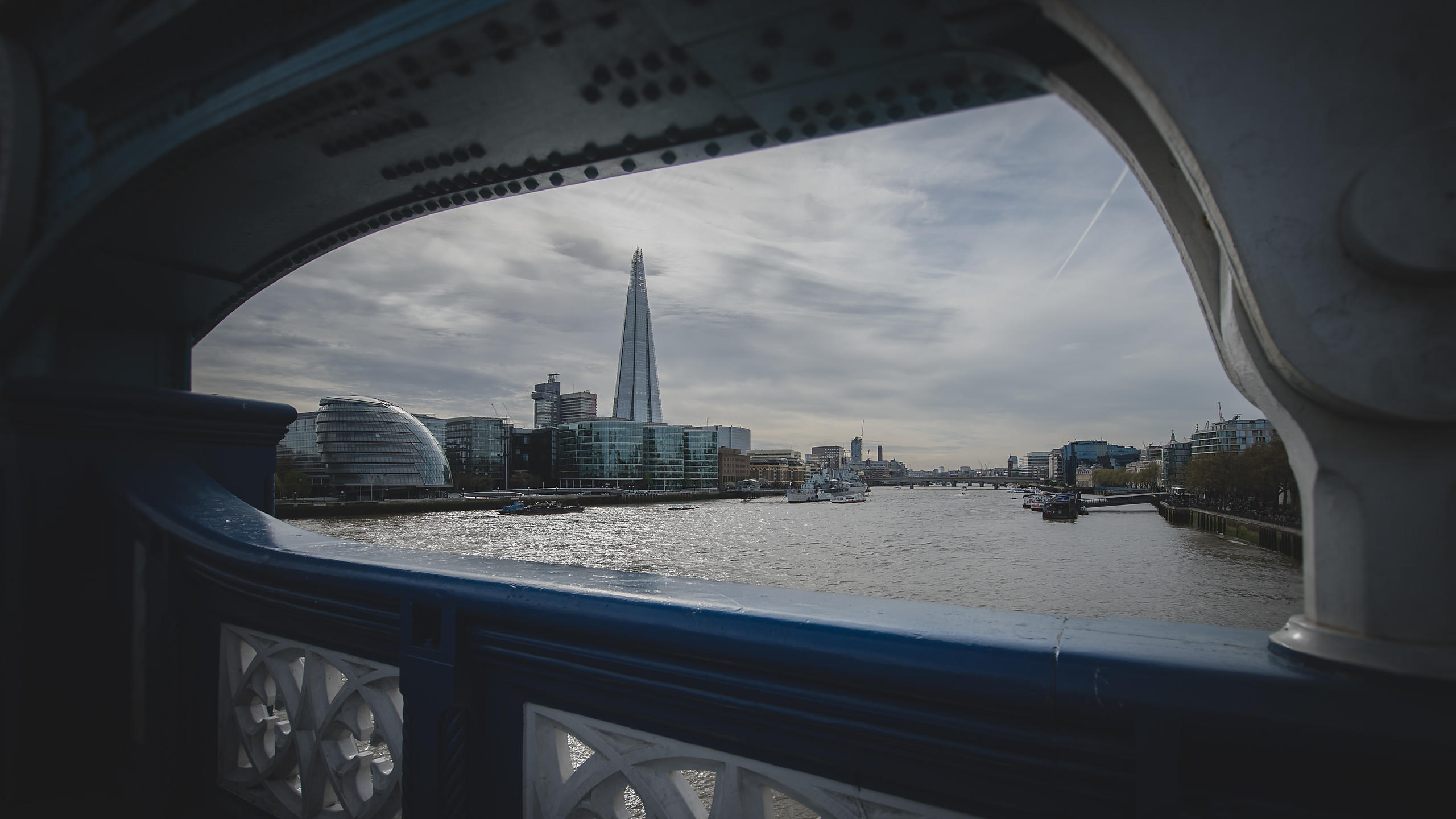 View of The Shard from Tower Bridge; London
