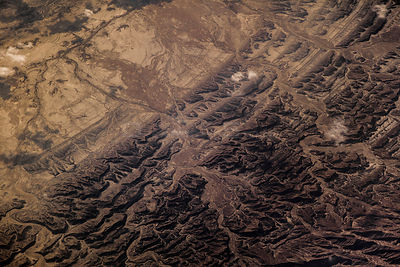 View from plane over Southern Pakistan, December.