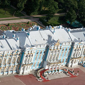 Catherine Palace in Tsarskoye Selo (Pushkin, 24 km (15 mi) south of Saint Petersburg. Catherine Palace, built between 1717 an...