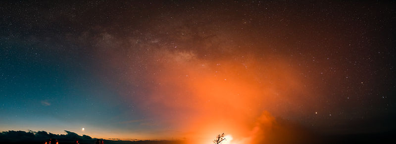 Milky Way Panorama - Kilauea Lava Lake