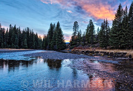 Soda Butte Creek Sunset